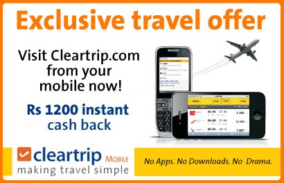 Cleartrip domestic flight booking coupons