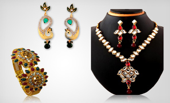 Gold Plated Wedding Jewelry Set Combo