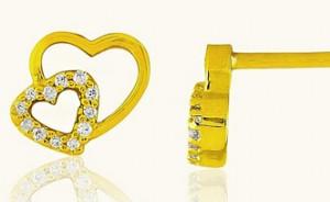 Diamond studded 18 KT Gold Earrings