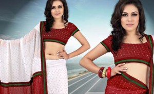 White Faux Lehenga Saree with Blouse