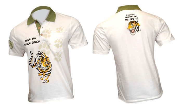 100% organic cotton Polo T-shirt with Tiger\'s impression