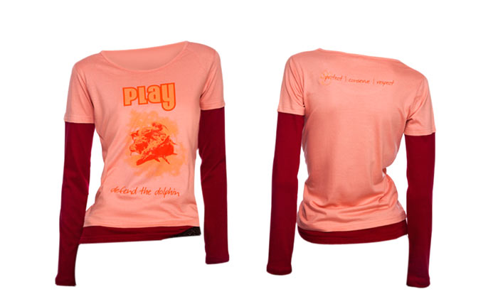 100% organic cotton lobster bisque coloured Play Ladies T-shirt