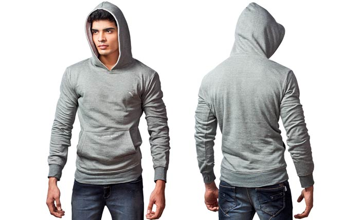 100% organic cotton charcoal melange coloured Himachal Men\'s Sweat
