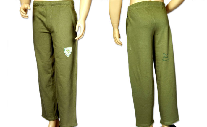 100% organic cotton olive coloured Ranthambhore Men\'s Pants
