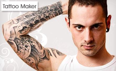 Tattoo maker 2 sq inch permanent tattoo body art deals for Tattoo generator on body