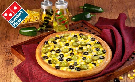 Choose any 2 Medium Hand Tossed Pizzas of Rs. 365 for Rs. 249 each