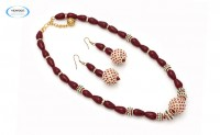 Maroon necklace set - 6868