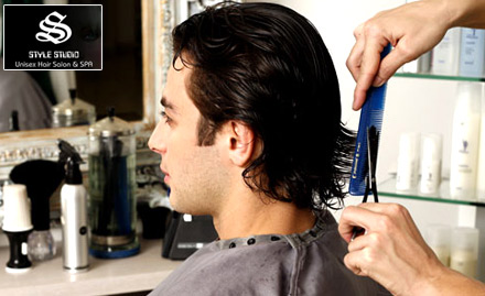 Style studio unisex hair salon and spa deal beauty for Aaina beauty salon electronic city