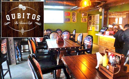 Qubitos the terrace cafe deal fine dining in rajouri for Qubitos the terrace cafe